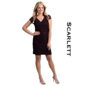 Scarlett Eggplant Cocktail Dress